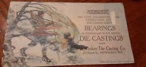 1920 Milwaukee Die Casting Ink Blotter