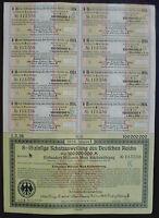 100 Million 100000000Mark German Government Trasury Loan Berlin 1923 unc+coupons