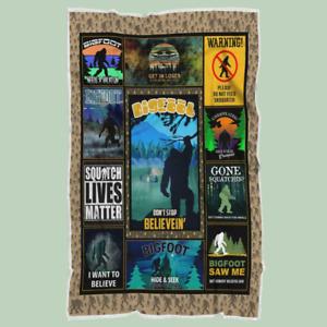 Squatch Lives Matter Blanket, Bigfoot Gifts Quilt, Fleece Blanket Free Shipping