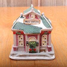 Christmas Village Train Station Porcelain House