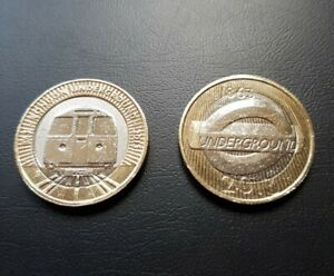 London Underground £2 Two Pound coin Set 2013 circulated