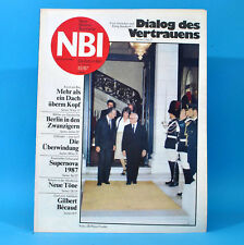 DDR NBI 43 1987 Lübz Gilbert Becaud Supernova Blinde Kamtschatka E. Honecker M