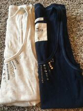 hollister Tank Tops Size Medium Navy Blue Tan