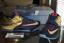 Deadstock Nike Kevin Durant KD 7 VII Premium Navy Gold Medal 706858 476 Size 11