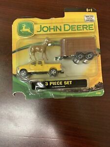John Deere 3 Piece Dodge Truck Trailer And Horse Set New In Box Is Damaged