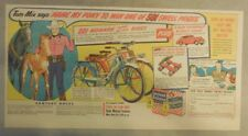 Ralston Cereal Ad: Tom Mix Monark Bike Premium from 1947 Size: 7 x 15 inches