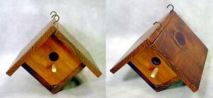 Hand-Made WOOD BIRDHOUSE CEDAR Wooden WREN Small BIRD Nesting BOX Chickadee NEST