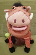 "Disney Store The Lion King 14"" Pumbaa Plush Stuffed Animal Toy W Stamp"