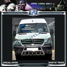 MERCEDES SPRINTER BULL BAR CHROME AXLE NUDGE A-BAR 2014+Up NEW