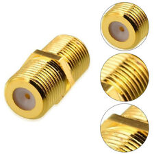 5xRG6 RG59 F Type Gold Plated Female to Female Coaxial Coupler Connector Adapter
