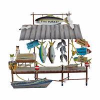 WALL SCULPTURES - ISLAND FISH MARKET METAL WALL SCULPTURE - NAUTICAL DECOR