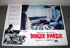 DANGER DIABOLIK lobby card JOHN PHILLIP LAW/MARIO BAVA orig 11x14 movie poster