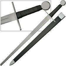 Knights Full Tang Longsword Blunt Battle Ready Functional Bruiser Bastard Sword