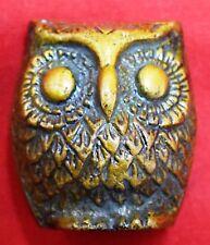 Antique OWL Paper Weight Golden Owl Decorative Item Table Office Home Decor BM63