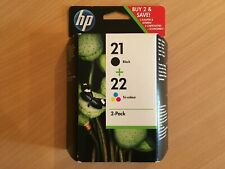 2 original Tintenpatronen HP 21 Black C9351A 22 Color C9352A 06/2014 Rechnung