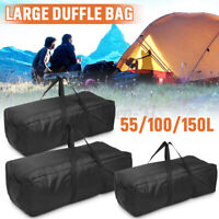 55/100/150L Large Adult Black Sports &Gym Duffle Holdall Bag Outdoor Travel