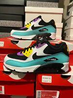 Nike Air Max 90 Essential Black White Violet AJ1285-024 Men's NEW