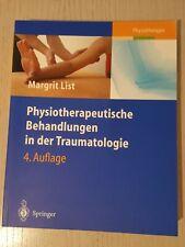 Physiotherapeutische Behandlungen in der Traumatologie Physiotherapie Buch List