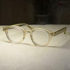 Retro 1960's acetate eyeglasses crystal yellow glasses men's womens RX eyewear