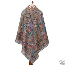 "PAVLOVO POSAD SHAWL RUSSIAN SCARF EVENING DRESS WRAP CAPE 57"" PASHMINA 146x146CM"