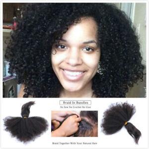 3pcs 18 20 22'' Braid In Bundles Brazilian Afro Kinky Curly Human Hair Extension