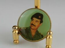 Vintage SADDAM HUSSEIN Iraq Arab Military Army Collectible Pin Badge Old RARE
