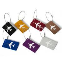 7pc Aluminium Luggage Tags Suitcase Label Name Address ID Bag Baggage Tag Travel