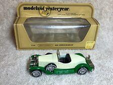 Matchbox Y-14 1931 Stutz Bearcat box Factory Defect Lesney Models of Yesteryear