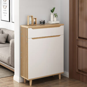 Small Gate Shoes Storage Cabinet 2 Doors Cupboard Storage Cabinet Rack Holder