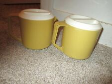 New listing Set of 2 Vintage Rubbermaid 2745 Gold Yellow 1 1/2 Quart Pitchers
