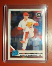 2019 DONRUSS OPTIC ⚾️ BASEBALL GRIFFIN CANNING for the LA ANGELES RATED ROOKIE.