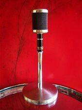 Vintage RARE 1950s Ronette-Holland SB-742 crystal microphone old antique w stand