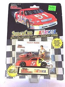 LIONEL NASCAR RACING RICKY RUDD 5 CAR COLLECTORS CARD DISPLAY STAND WINSTON CUP