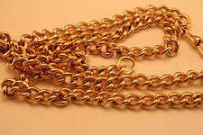 100% Genuine Vintage 9ct Rose Gold  Curbed Link Watch Chain - 67cm Extra Long