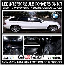 Premium LED Interior Lighting kit BMW X5 E53 2000-2006 Xenon White 6000k