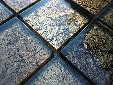 Pâte de verre Effet mosaïque Carrelage transparent Métal noir Doré 8mm bain