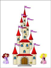 A4 FAIRY CASTLE CAKE TOPPERS DECORATIONS PERSONALISED ON EDIBLE RICE PAPER