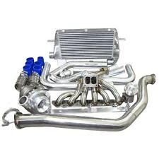 Top Mount Turbo Manifold Intercooler Kit For 86-92 Toyota Supra MK3 7MGTE Blue