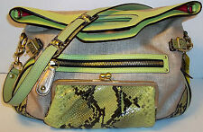 $458 COACH SPECTATOR 13400 BONNIE STRAW PYTHON CONVERTABLE TOTE PURSE HUGE BAG