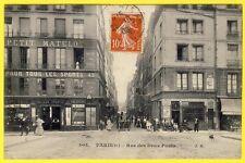 cpa 75 - PARIS (4) Rue des DEUX PONTS Commerces TAILLEUR SPORTIF Foot-Ball Animé