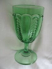 """Florida"" Emerald Green Water Glass ~ U. S. Glass Co ~ EAPG ~ Circa 1898 ~ Mint"
