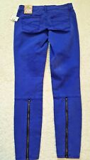 Aeropostale Jeans Lola Jegging Blue Zipper LEGS, Tag Size: 2 Regular  New W.Tag