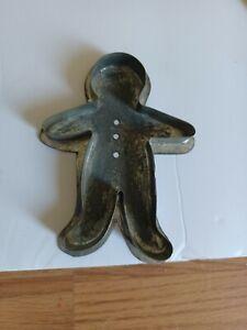 Tin Cookie Cutter Ginger Bread Man  Folk Art Soldered Vintage   COOL  Look