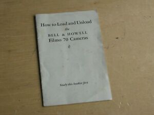 Bell&Howell Filmo 70 Camera 16MM English Language Instructions Manual