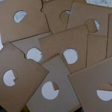 "10x 10"" 78rpm gramophone record sleeves , plain brown card , genuine vintage"
