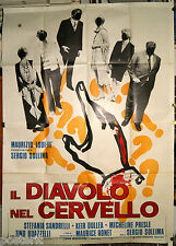 manifesto 4F film IL DIAVOLO NEL CERVELLO Sergio Sollima Stefania Sandrelli 1972