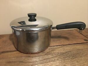 Revere Ware 4 Qt Quart Saucepan Pot  Bottom  & Lid