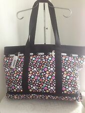 LE SPORTSAC 2209 D194 LARGE TRAVEL TOTE NO POUCH POP HEART HANDBAG