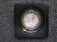 Portrait miniature de jeune femme, signée BOUILLY
