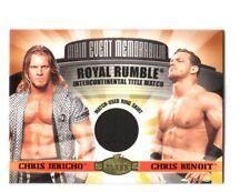 WWE Chris Jericho & Benoit 2001 Fleer Championship Clash Ring Skirt Relic Card